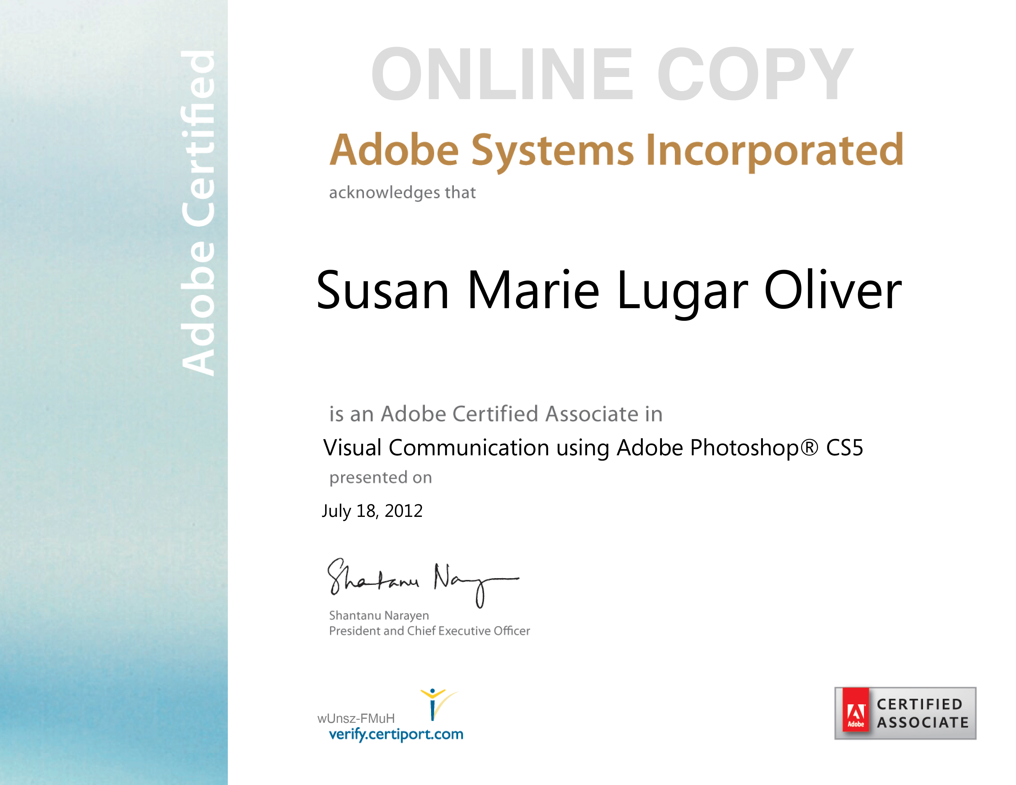 Adobe Photoshop Certificate   Megaritz Software